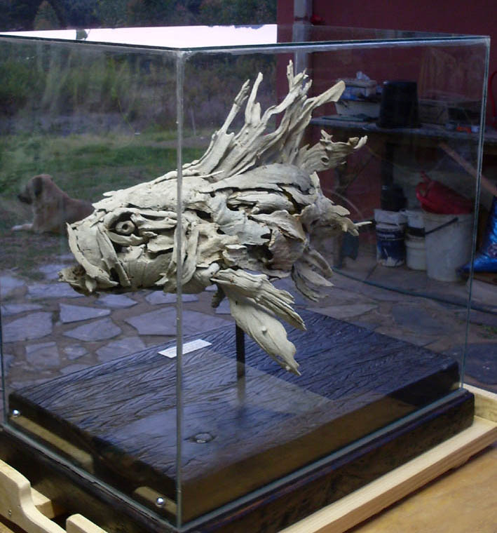 Lionfish-in-glass-case