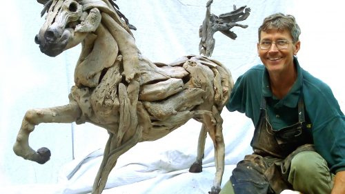 Tony-with-driftwood-horse