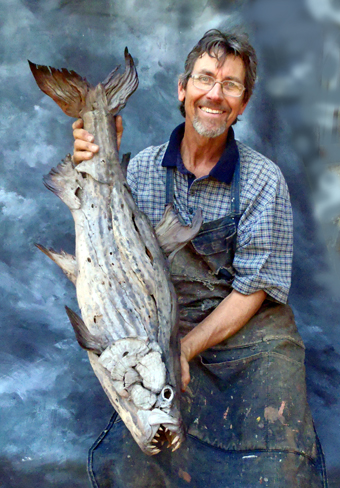 Tony-with-driftwood-tigerfish